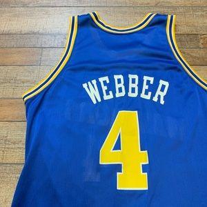timeless design 32901 cedae Chris Webber Golden State Warriors NBA Jersey 48